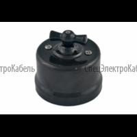 Выключатель 1-кл. проходной,цвет черный (пластик)