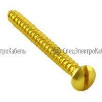 Саморез 2 шт. (выкл.,изолятор) цвет золото
